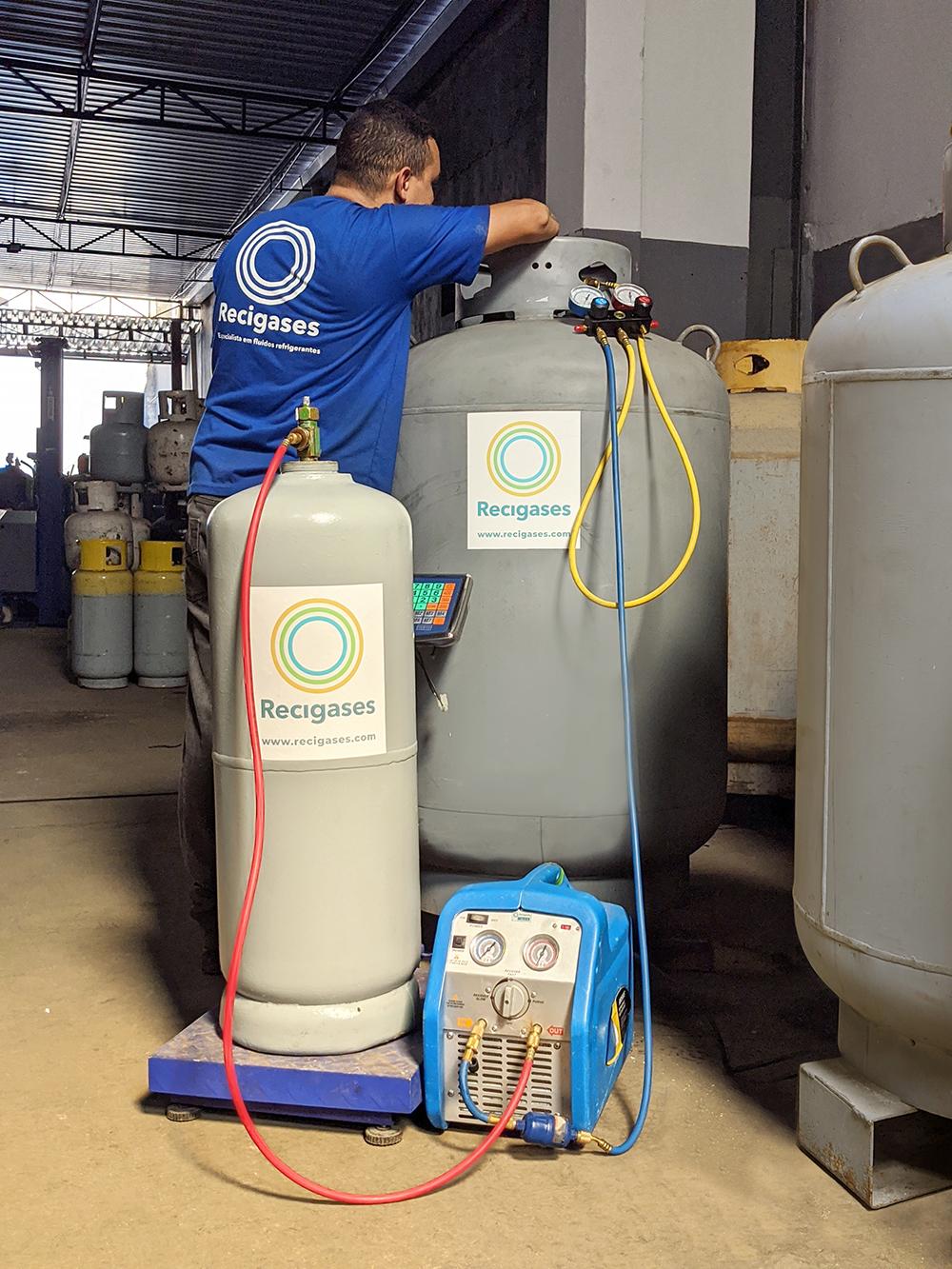 transferência de fluido refrigerante